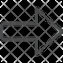 Forward Arrow Arrow Right Arrow Icon