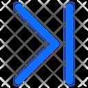 Forward Move Right Icon