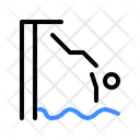Forward Diving Swimming Swimming Expert Icon