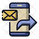 Forward Message Smartphone Icon
