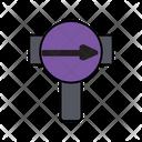 Forward Road Board Icon