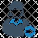 Forward User Action Arrow Icon