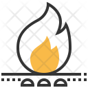 Fossil Fuels Flame Icon