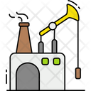 Fossil Fuel Offshore Rig Oil Processing Plant Icon