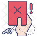 Warning Referee Red Card Icon