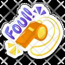 Foul Whistle Icon