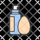 Cosmetic Foundation Sponge Icon