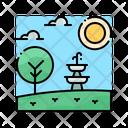 Fountain Water Decoration Icon
