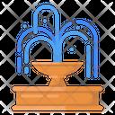 Fountain Decorative Fountain City Fountain Icon
