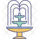 City Element Decoration Fountain Icon
