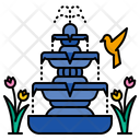 Fountain Outdoor Decoration Icon