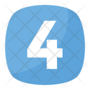 Four Number Numeric Icon