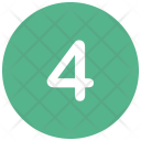 Four Number Icon