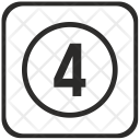 Four Number Function Icon