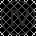 Four Number Roman Icon