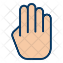 Fingers Four Hand Icon
