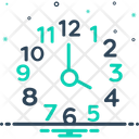 Four Number Clock Icon
