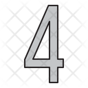 Numbers 4 Days Icon
