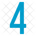Four Numbers Icon