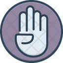 Four Finger Hand Icon