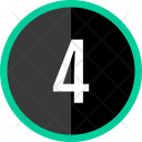 Four Number Count Icon