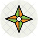 Four Pointed Star Icon