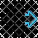 Arrow Symbol Moving Icon