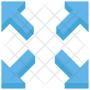 Four Arrow Expand Sign Icon