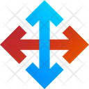 Colored Arrows Arrow Direction Icon