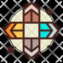 Four Direction Arrow Spread Four Direction Icon
