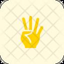 Four Finger Icon