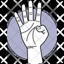 Four Finger Finger Fingers Icon