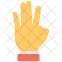 Four Fingers Sign Icon