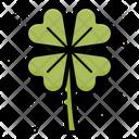 Four Leaf Clover Leaf Sharmrock Icon