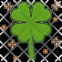Four Leaf Clover Leaf Sharmrock Belief Lucky Charm Luck Goodluck Icon