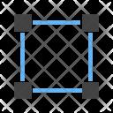 Four Nodes Square Icon