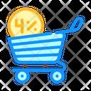 Cashback Percentage Shop Icon