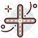 Four Road Roads Crossing Icon