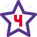 Four Star Rating Review Icon