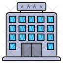 Hotel Building Fivestar Icon