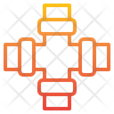 Pipe Four Way Water Icon