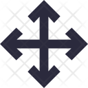 Road Intersection Four Icon