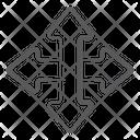 Four Way Arrows Intersection Arrows Direction Arrows Icon