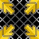 Four Ways Arrow Navigational Pointer Icon