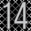 Fourteen Icon