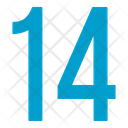 Fourteen Numbers Icon