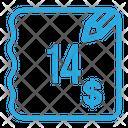 Fourteen Dollar Bill Icon