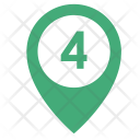 Four Way Number Icon