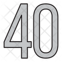 Numbers Days 40 Icon