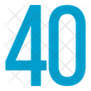 Fourty Numbers Icon